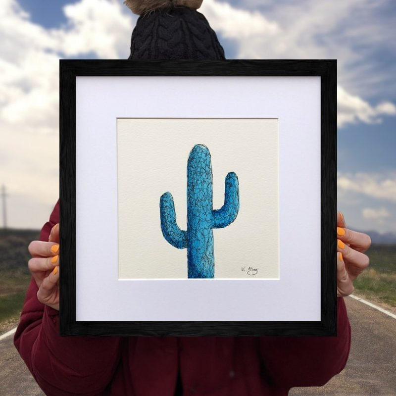 Saguaro Cactus – Blue