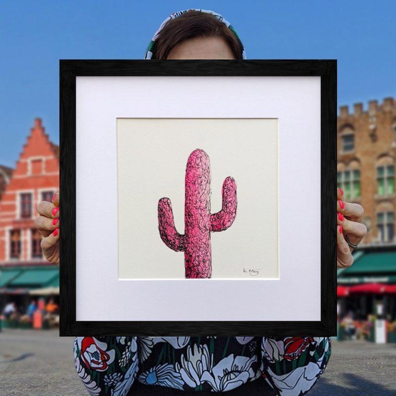Saguaro Cactus – Pink