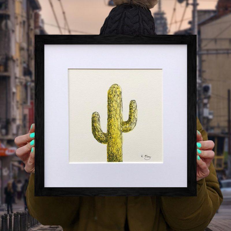 Saguaro Cactus – Yellow