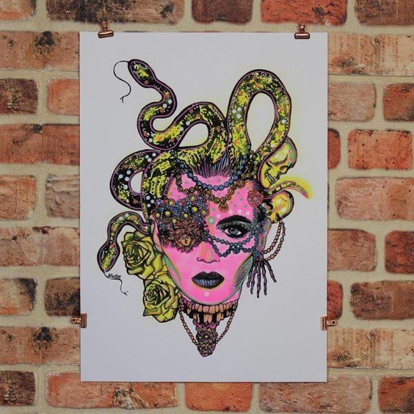 Pink Medusa by MsDre