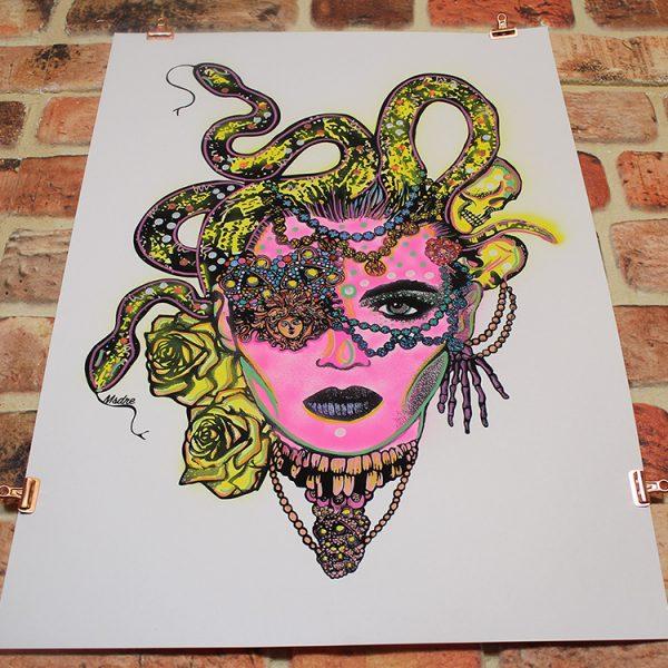 Pink Medusa (Close-up) by MsDre