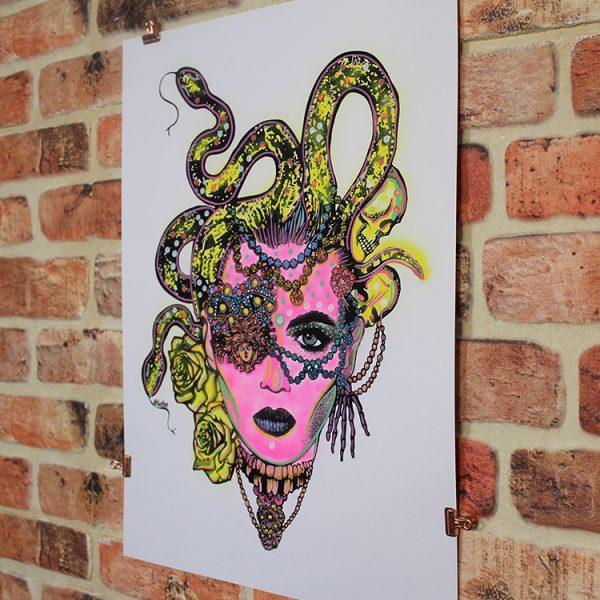 Pink Medusa (Angled) by MsDre