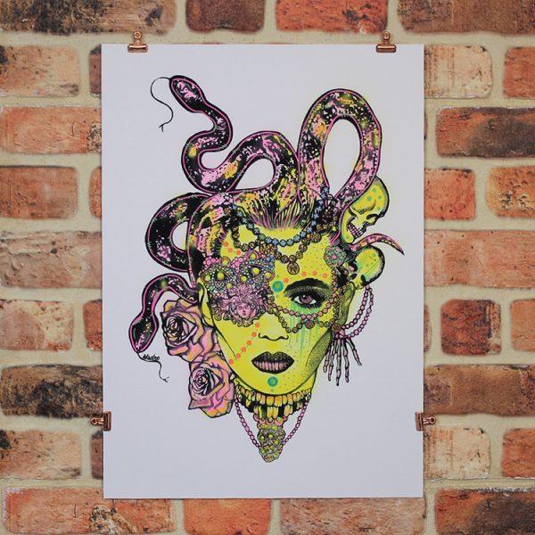 Yellow Medusa by MsDre