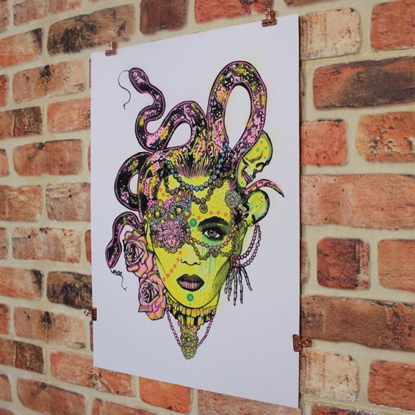 Yellow Medusa (Angled) by MsDre