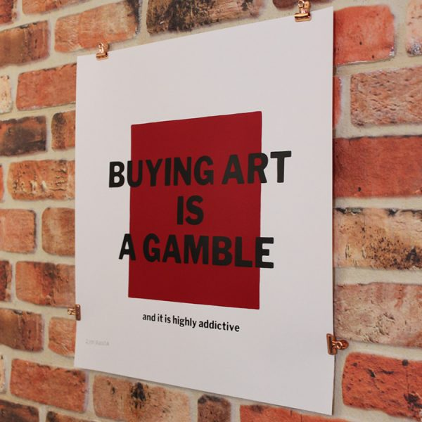 Buying Art is a Gamble (Angled) by Olya Purikova
